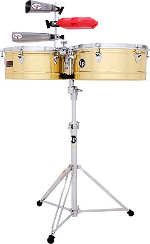 LP Prestige Series Brass Timbales (13 inch/14 inch) by Latin Percussion