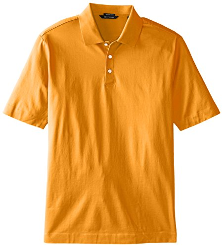 Cutter & Buck Men's Big-Tall Warrick Mercerized Luxury Solid Polo Shirt,  Gold Finch,  5X/Big
