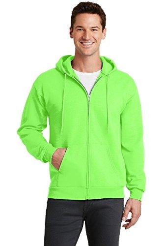 Port & Company Core Fleece Full-Zip Hooded Sweatshirt. PC78ZH Neon Green -