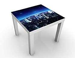 Apalis 46375–276991 Design Table New York illuminée, 55 x 55 x 45 cm, Bleu, 45x55
