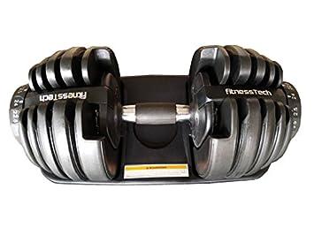 Pesas ajustables de FitnessTech, hasta 24 kg. Eficientes y ocupan poco espacio: Amazon.es: Deportes y aire libre