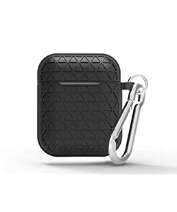 ACHICOO for Air-Pods Silicone Case Cover Protective Skin for Air-Pod Charging Case Black