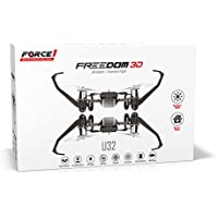 UDI Freedom U32 Quadcopter Drone Toy | Inverted Flight | Fly In The Dark and do 360º Flips and Stunts | Headless Mode, One Key Return | Includes BONUS Battery (Doubles Flying Time)