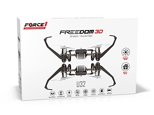 UDI-Freedom-U32-Quadcopter-Drone-Toy-Inverted-Flight-Fly-In-The-Dark-and-do-360-Flips-and-Stunts-Headless-Mode-One-Key-Return-Includes-BONUS-Battery-Doubles-Flying-Time