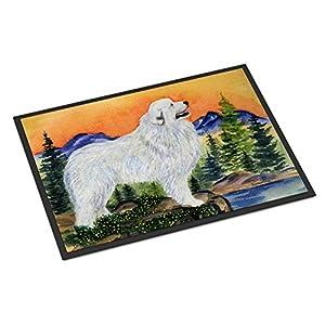 Caroline's Treasures SS8183MAT Great Pyrenees Indoor Outdoor Mat 18x27 Doormat, 18H X 27W, Multicolor 16