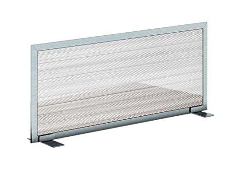 OBEX 24X42P-A-W-FS Polycarbonate Free Standing Privacy Screen, 24'' X 42'', White/Aluminum