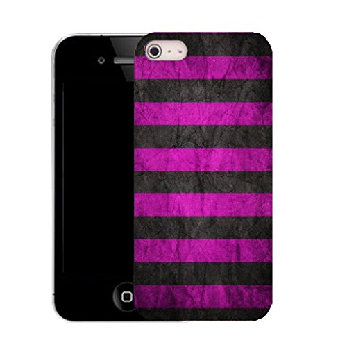 Mobile Case Mate IPhone 5 clip on Silicone Coque couverture case cover Pare-chocs + STYLET - pink groove pattern (SILICON)