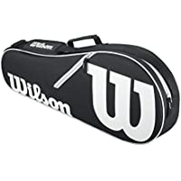 Wilson Advantage II–Bolsa Triple, Color Blanco y Negro