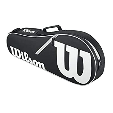 Wilson Advantage II Tennis Bag, Black/White/Light Grey
