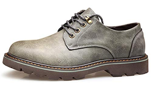 Round Shiney Strap Martin Head Big Stivali Pelle Head Inghilterra 2018 In Casual Leather Tooling Grey Boots Men's Shoes ZwrxIY4rq