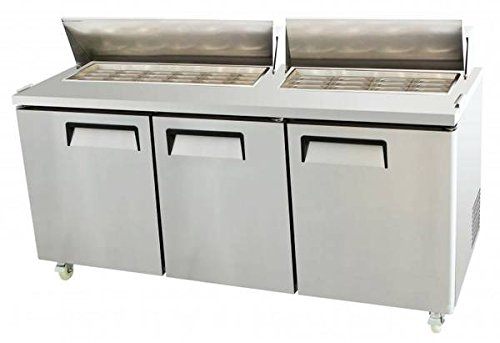 3 Door Refrigerated Mega Top Salad Prep Table 73