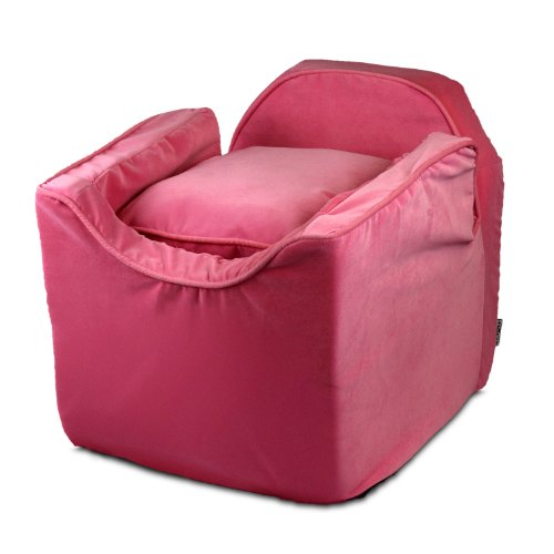 Snoozer Luxury Lookout Pet Car Seat, Small Luxury I, Pink with Pink For Sale