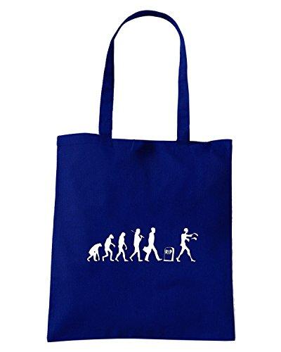 T-Shirtshock - Bolsa para la compra TZOM0025 zombie evolution (3) Azul Marino