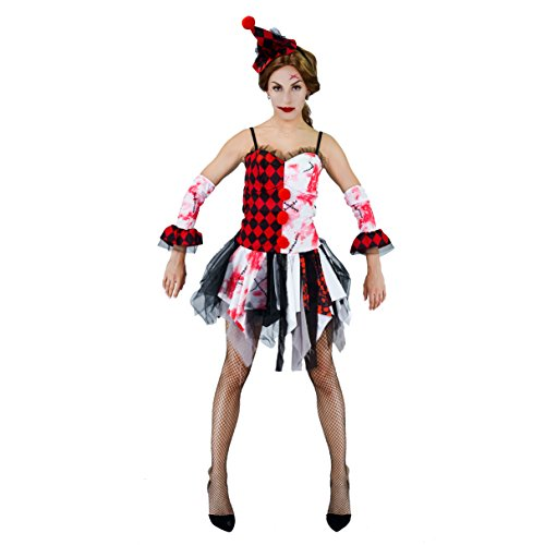 Female Scary Halloween Costumes (Halloween Blood Scary Clown Womens Costumes)