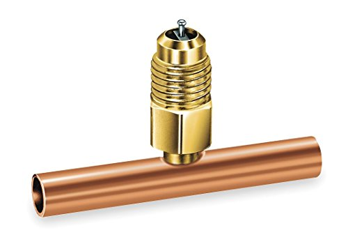 JB INDUSTRIES A31140 Access Valve TEE, 1/4INCH, Brass/Copper