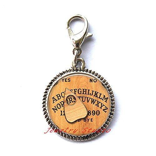 Ouija Board Zipper Pull, Ouija Board Jewelry, Ouija Board Jewellery,Halloween Zipper Pull, Halloween Jewelry,Spirit World Charm Zipper Pull-HZ0023 ()