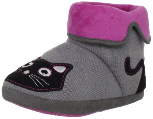 TUK Kitty Bootie Ladies Slippers Grey A8211L