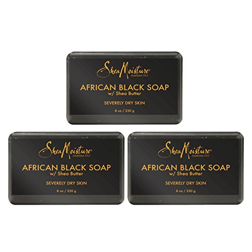 Shea Soap African Black Butter (Shea Moisture African Black Soap With Shea Butter 8 oz (Pack of 3))