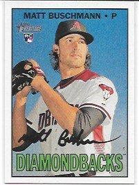 (Matt Buschmann 2016 Topps Heritage High Number Arizona Diamondbacks Rookie Card #540)