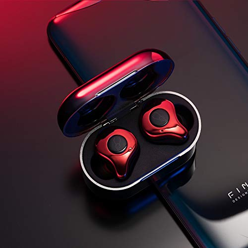 RONSHIN Headphones/Earphones/Earbuds/Headsets Sabbat E12 Ultra QCC3020 TWS BT V5.0 Sports Earbuds Wireless Charging Noise Canceling Headphones Red