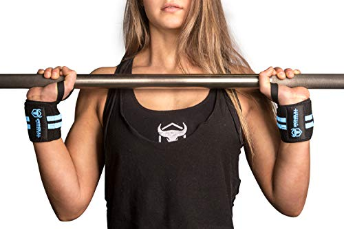 "Women Wrist Wraps with Thumb Loops - 12"" Professional Grade - Wrist Support Brace and Compression for Cross Training, Weight Lifting, Powerlifting, Strength Training"