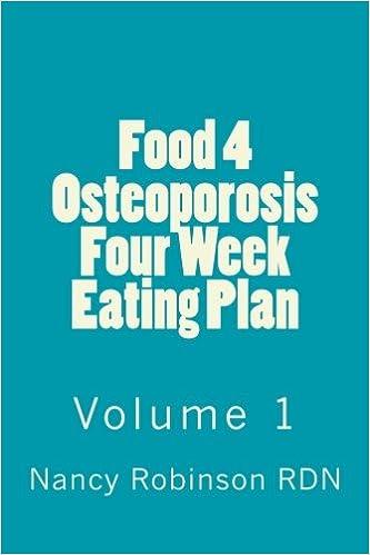 Food 4 Osteoporosis Four Eating Plan Volume 1 Amazon Nancy
