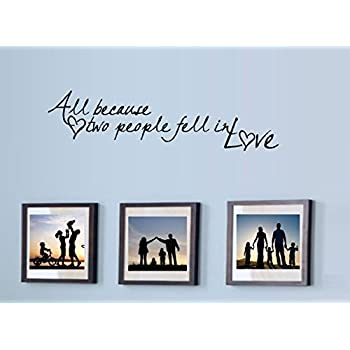 Amazon.com: ALL BECAUSE TWO PEOPLE FELL IN LOVE ~ WALL DECAL, New ...