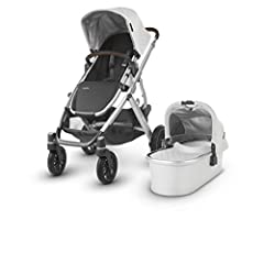 The UPPAbaby VISTA stroller is designed to transport up to 3 children- all while strolling like a single. The included bassinet is the perfect lay flat solution.Suitable from 3 months to 50 lbs Expandable seat selections that allow for two fo...