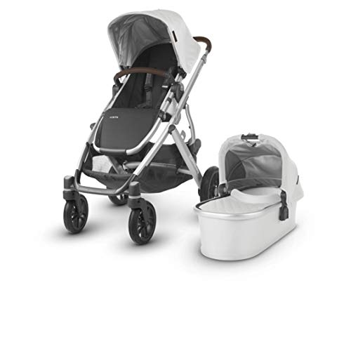 UPPAbaby Vista Stroller, Bryce (White Marl/Silver/Chestnut Leather)
