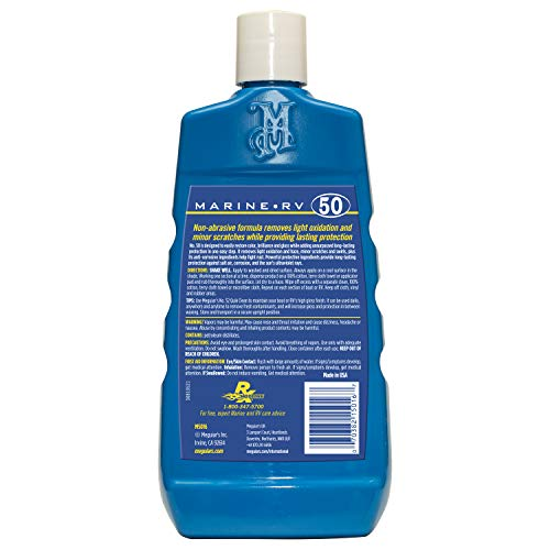 Meguiar's M5016 Marine/RV One Step Cleaner Wax, 16 fl oz