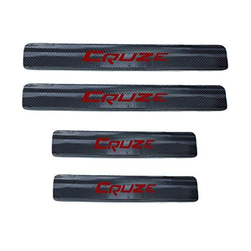 Car Accessories Carbon Fiber Scuff Plate Door Sill For Chevrolet Chevy Cruze Sedan Hatchback 2009-2015 Anti-Wear Stickers