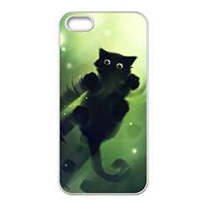 cat walking on water iPhone 4 4s Cell Phone Case White yyfD-019591
