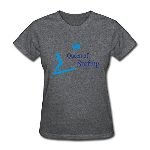 WSB Women's T Shirt Queen Surfing Sport DeepHeather L