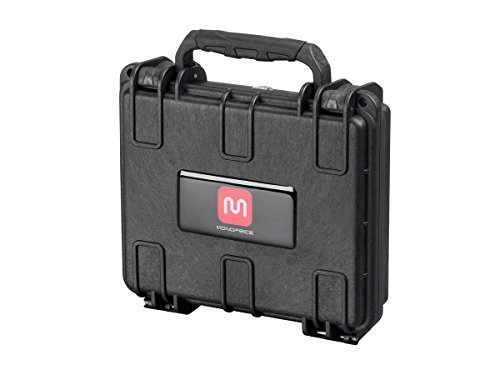 Monoprice Weatherproof / Shockproof Hard Case - Black IP67 Level Dust And Water Protection up to 1 Meter Depth With Customizable Foam, External 7.48 x 6.69 x 2.36