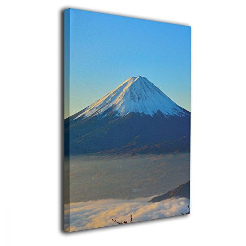 TRdY Page Mount Fuji Painted Canvas Inner Framed Wall Decor Modern Artwork for Office Home Decor Pictures Ready to Hang for Living Room Bathroom - Fuji Framed