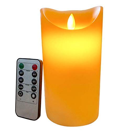 Simple Elegance Flameless Candles with Remote Timer Real Wax Real Flickering LED Candles Premium Quality Moving Wick Flameless Candles Great Gift Ideas Home Decor Best Gifts for Women and Man