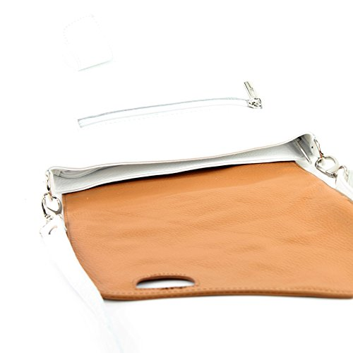 Messengerasche De Modamoda Nt07 Leather De Bolsa Messengerasche Camel Nt07 Hombro Blanco Damentasche 2in1 Bolsa 2en1 De Cuero Nappa Napa Bag Shoulder Bag Leather Modamoda Ital De White Cuero De Damentasche Camello Ital npwXxp68Eq