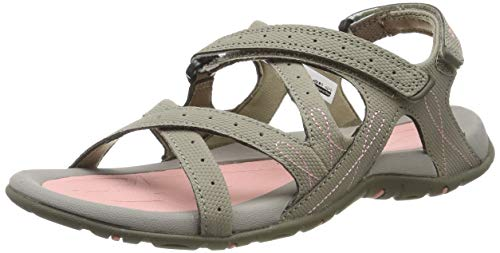 - Hi-Tec Waimea Falls Women's Walking Sandals - SS19-8 - Beige (Dune/Mellow Rose 48)