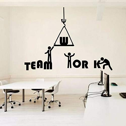 Pbldb 59X42Cm Office Quote Wall Decal Idea Teamwork Business Worker Inspired Office Decoration Motivation Stickers Mural Unique Gift ()
