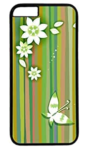 Butterfly and flowers Thanksgiving Halloween Masterpiece Limited Design PC Black Case for iphone 6 by Cases & Mousepads