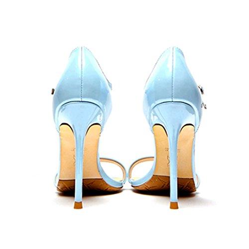 Salvajes De Con Mujeres Tacón Alto Sandalias Palabra Las Zapatos 8gqWdB