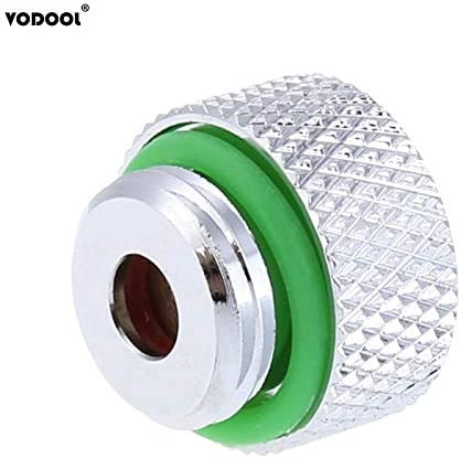 Rarido G1//4 Thread Vent Valve Auto Exhaust Chrome Plated Connector Plug 18mm Diameter for PC Water Cooling System Computer Components