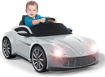Elektrofahrzeug Kinderauto Aston Martin 6 Volt Mit Licht Und Sound Amazon De Spielzeug