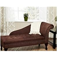 Modern Living Room Storage Chaise Lounge Sofa Chair Brown, Organize and Update Your Home Decor with One Versatile Accent Piece