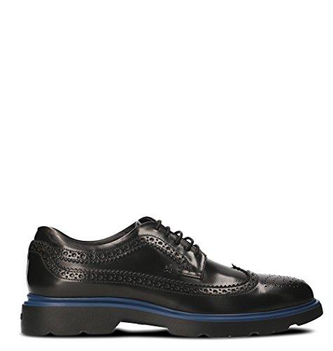 Hogan Homme HXM3040W3626Q69999 Noir Cuir Chaussures À Lacets