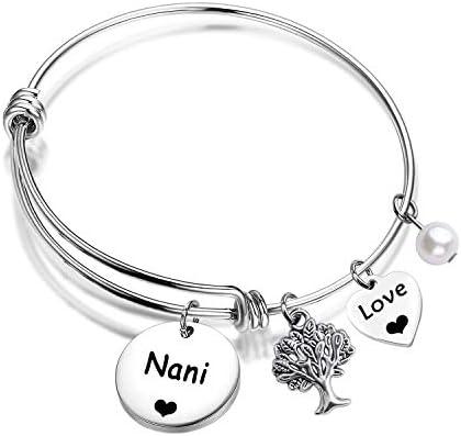 BLEOUK Grandma Nani Jewelry Bracelet Nani Gift Nani Bracelet Grandma Gift Grandma Bracelet for Nani Best Nani Gift for Nani