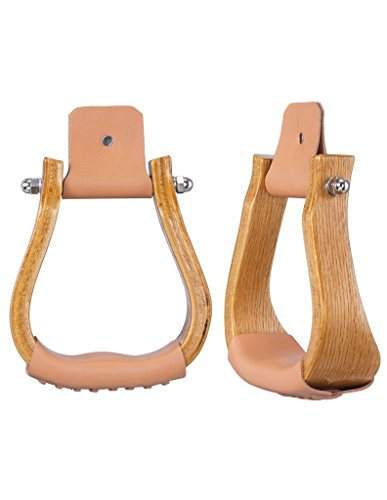 Tough-1 Stirrups Laminated Wood Offset Sold In Pairs 57-9997
