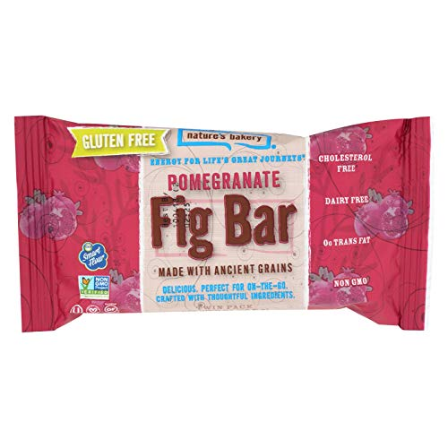 Nature's Bakery Gluten Free Fig Bar - Pomegranite - Case of 12 - 2 oz.