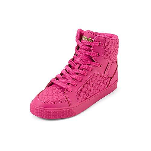 Zumba Women's Street Boss Fashion Athletic Dance Workout Sneakers Shoe, Hot Fuchsia, 9 Regular US (Best Street Dance Shoes)