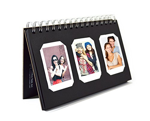 Golden State Art, Instax Frames Collection,Photo Album Book Style 60 Pocket for Fuijufilm Instax Mini 7S 8 70 90 25 50S 8+ Film - Album Mini Stand